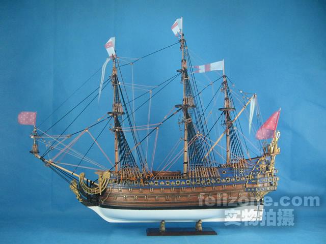 """点击图片看大图 名 称 实木帆船拼装套材--法国皇家一级战舰""""le."""